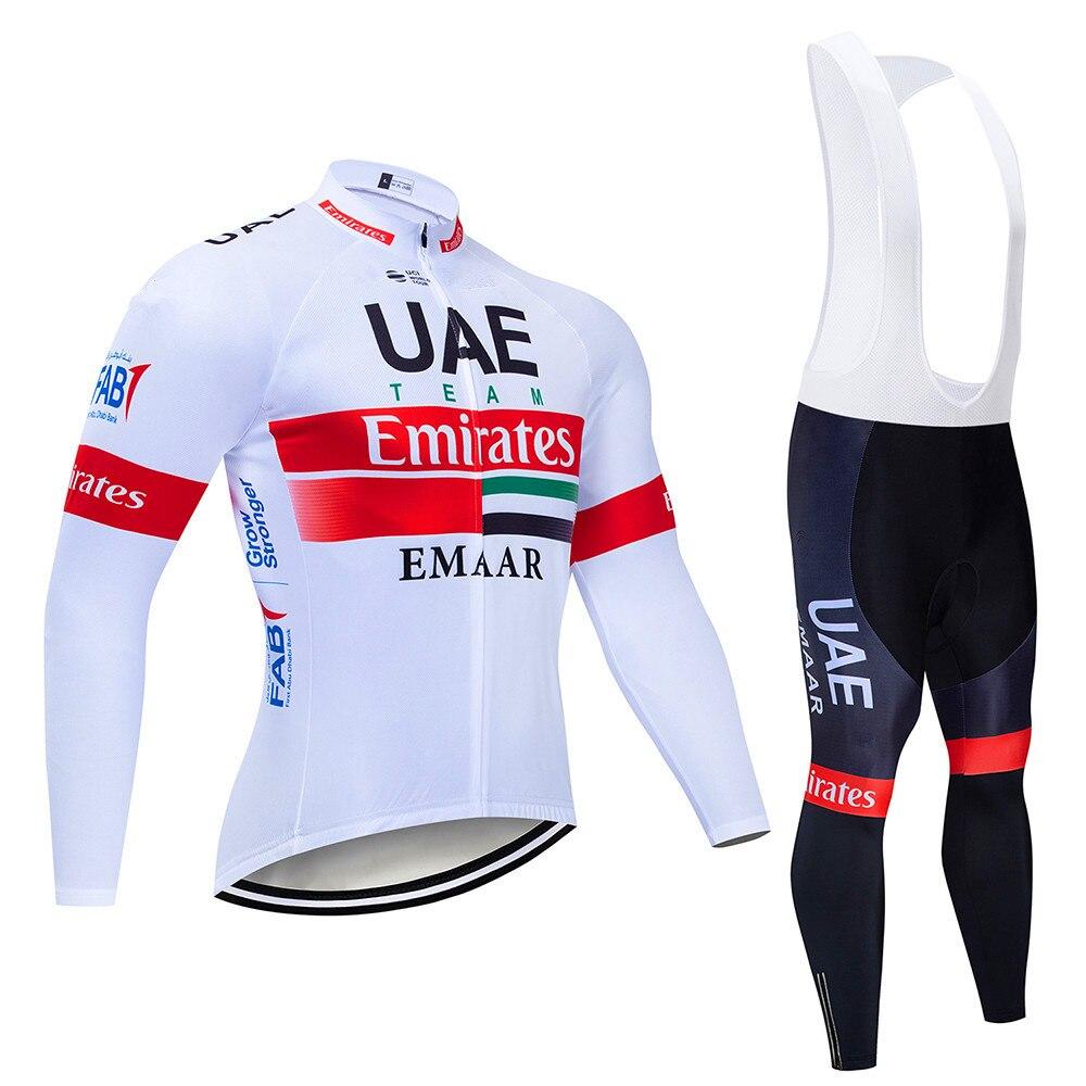 UAE equipo invierno 2019 negro Ciclismo JERSEY 9D bicicleta pantalones conjunto hombre Ropa Ciclismo polar térmico Ropa Ciclismo