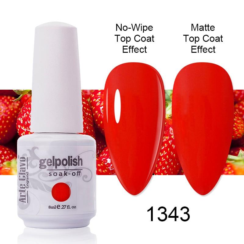 Arte Clavo Gel Nail Polish Pure Red White Black Semi Permanent Soak Off UV LED Gel Varnish All For Manicure Top Bast Nail Art недорого