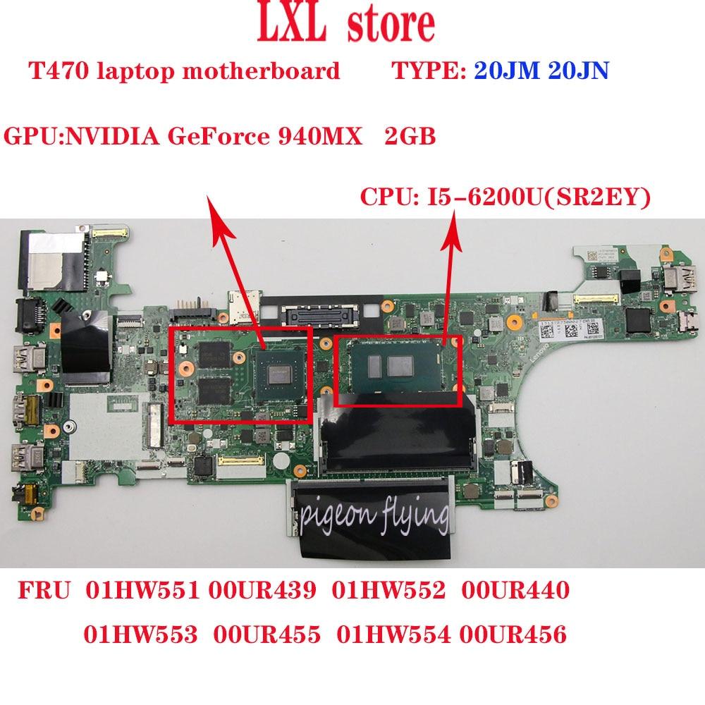 SWG NM-A931 T470 motherboard para lenovo Thinkpad laptop CPU I5-6200U DDR4 GPU geForce 940M X 2GB FRU 01HW553 00UR455 01HW554