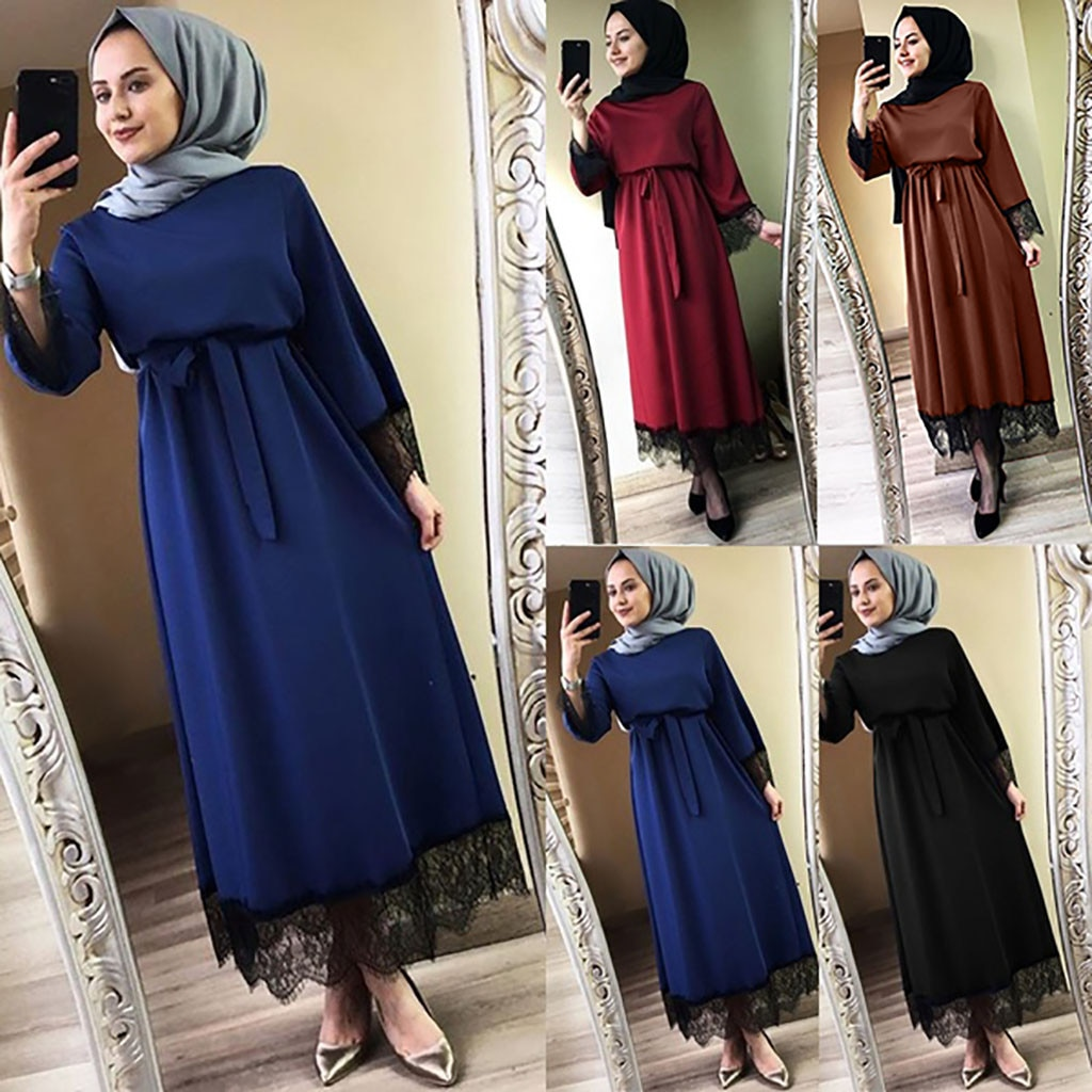 Musulman arabe islamique 2020 dubaï Caftan Abaya Vestidos femmes 2020 Abaya dubaï Ramadan Caftan marocain robe musulmane turc
