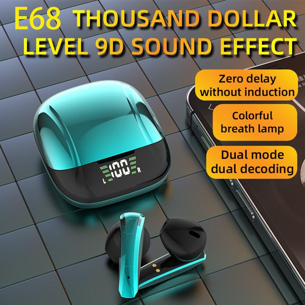 TWS Bluetooth 5.0 Earphones 300mAh Charging Box Wireless Headphone Stereo Sports Waterproof Earbuds Headsets With Microphone