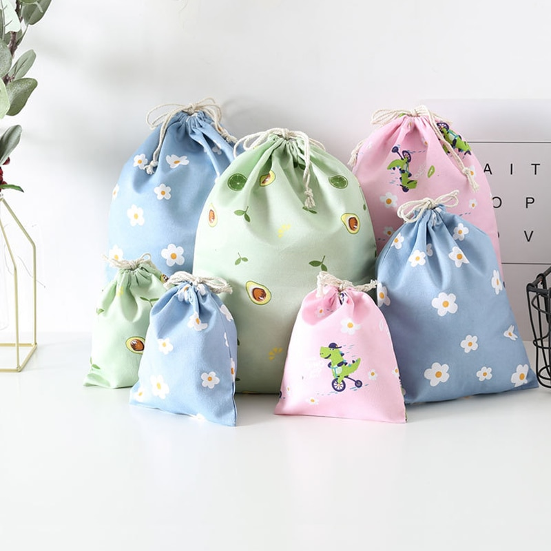 Drawstring Cosmetic Bag Travel Luggage Storage Organizer Case Pouch Women Makeup Bag Toiletry Beauty