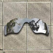 Gümüş Titanyum Polarize Güneş Gözlüğü için Yedek Lens-Oakley Radar Yolu Bacalı Çerçeve 100% UV Koruma İyi Spor