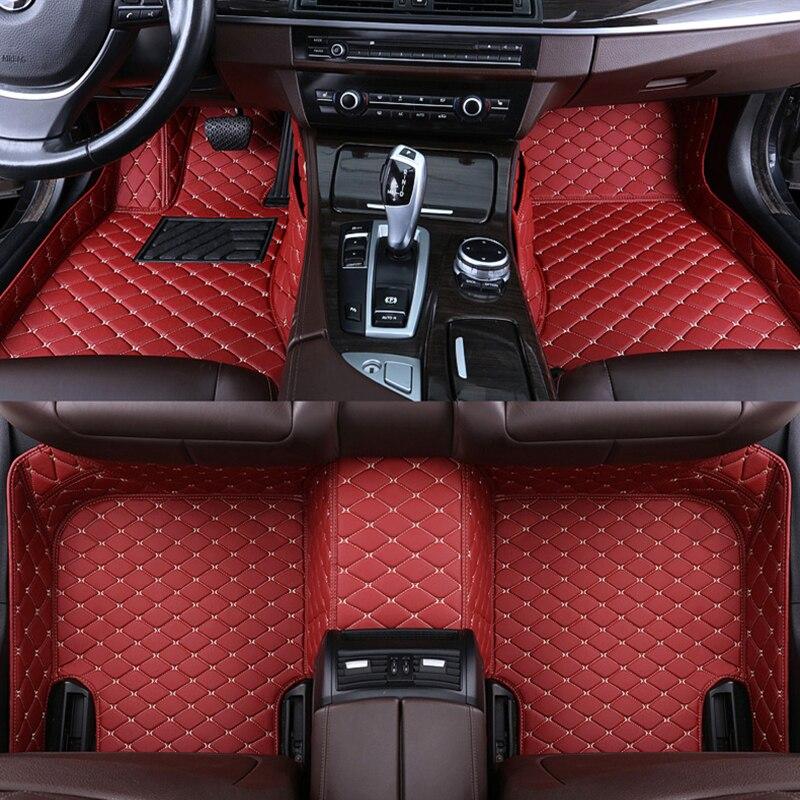 Custom car floor mat for audi A3 sportback A1 8KX A2 A3 8P Limousine Convertible A4 A6 Q2 Q3 Q5 Q7 carpet Phone pocket