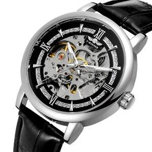 Повседневные новые модные часы с скелетом, мужские военные армейские часы, классические роскошные золотые механические Автоматические нар...
