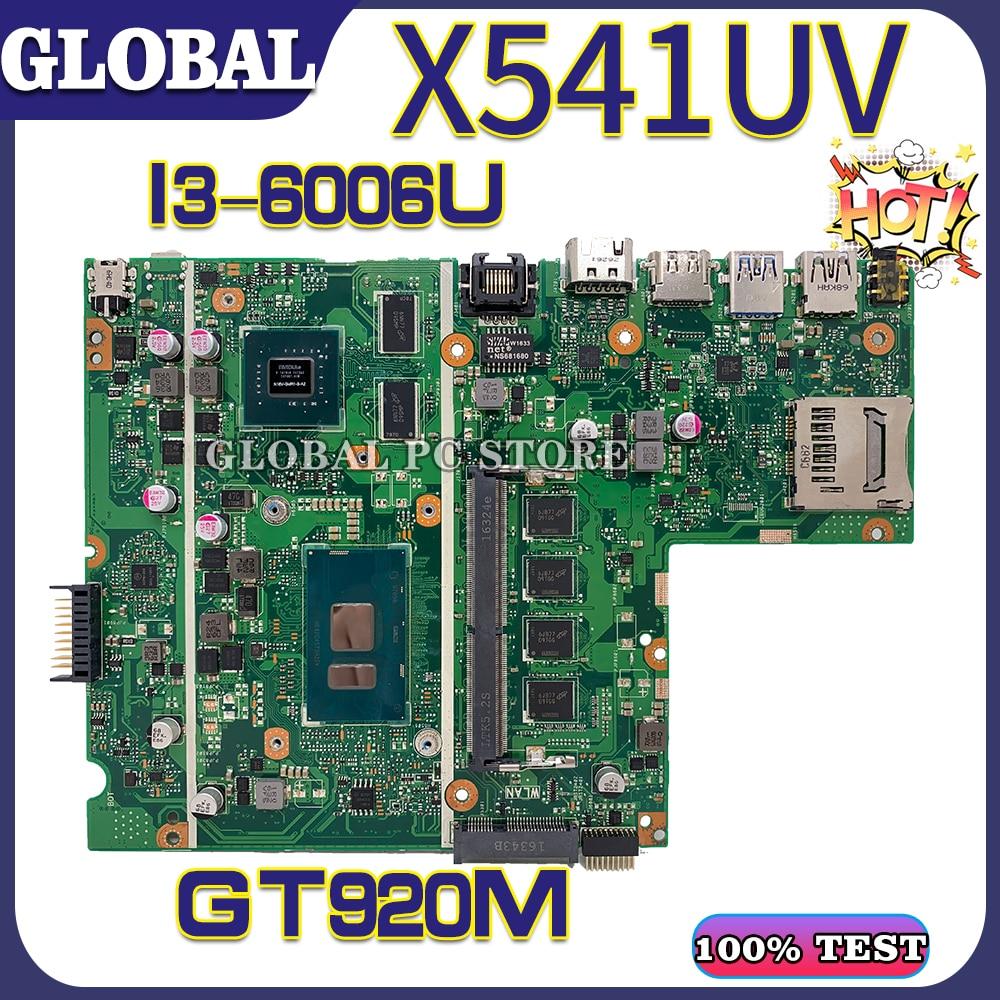 Motherboards X541UVK Laptop motherboard for ASUS X541UJ X541UV X541U F541U A541U 100% TEST original mainboard I3-6006U GT920M
