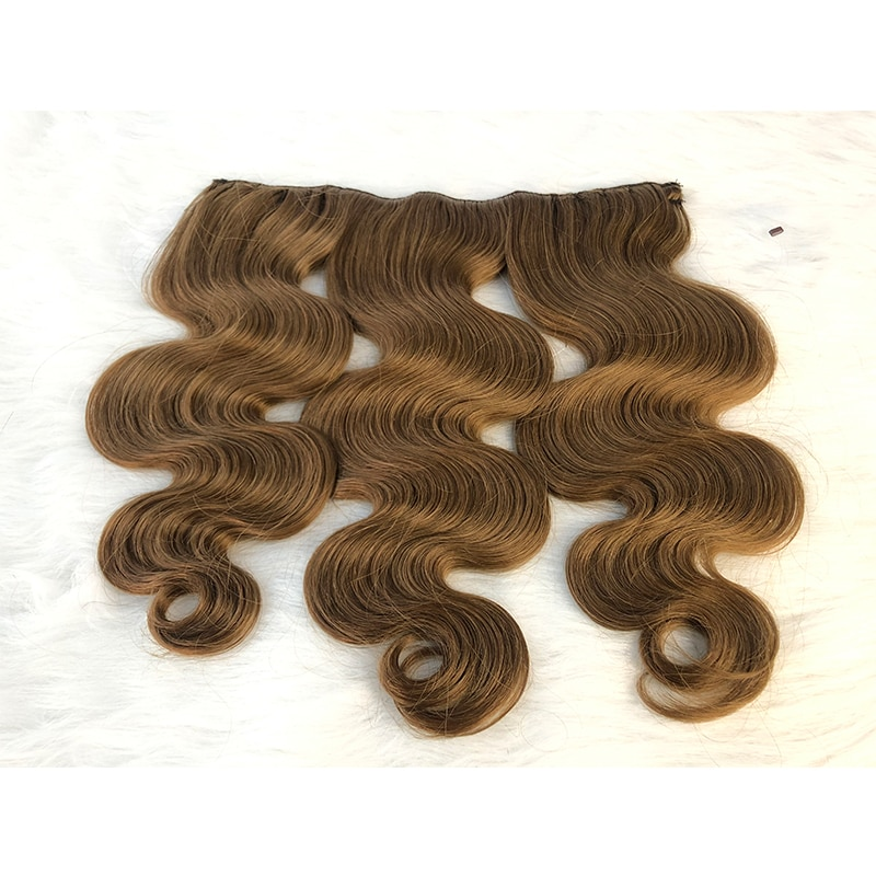 Cheap Halo hair extensions russian virgin hair one piece invisible wire Halo human hair extensions Body Wave