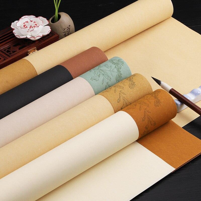 5 листов, рисовая бумага, рисовая бумага, полусозревшая бумага Xuan для ретро-каллиграфии, рисование, ручная работа, художественная бумага Xuan