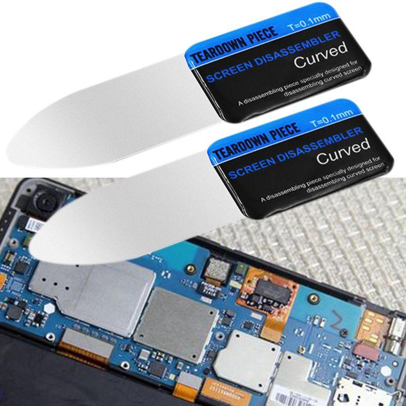 Spudger curvo con schermo LCD per telefono cellulare, scheda di apertura con leva, flessibile ultra sottile per strumenti di smontaggio dello smartphone