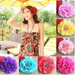 DIY Flower Beach Accessories Headdress Summer Hairpin Peony Wholesale Floral