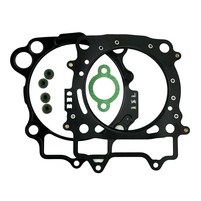 Para Yamaha YZ 450F YZ 450 F 2014 motocicleta reparación cilindro extremo superior Junta Kit cabeza Válvula de base juntas Set