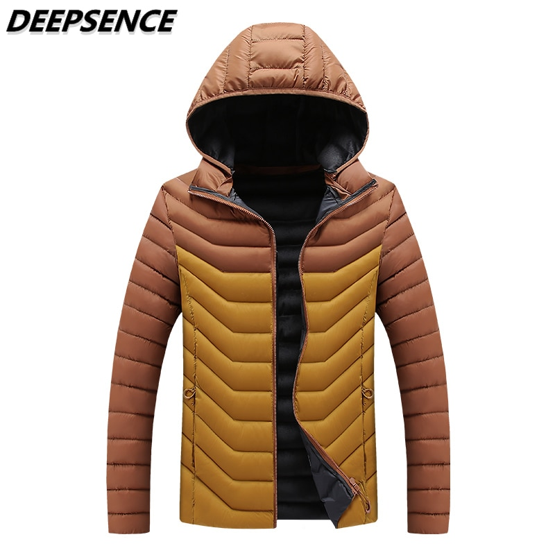 Men Autumn Winter Parkas Jacket Thick Warm Fashion Cotton Clothes Coats Men Windproof Hooded Detacha