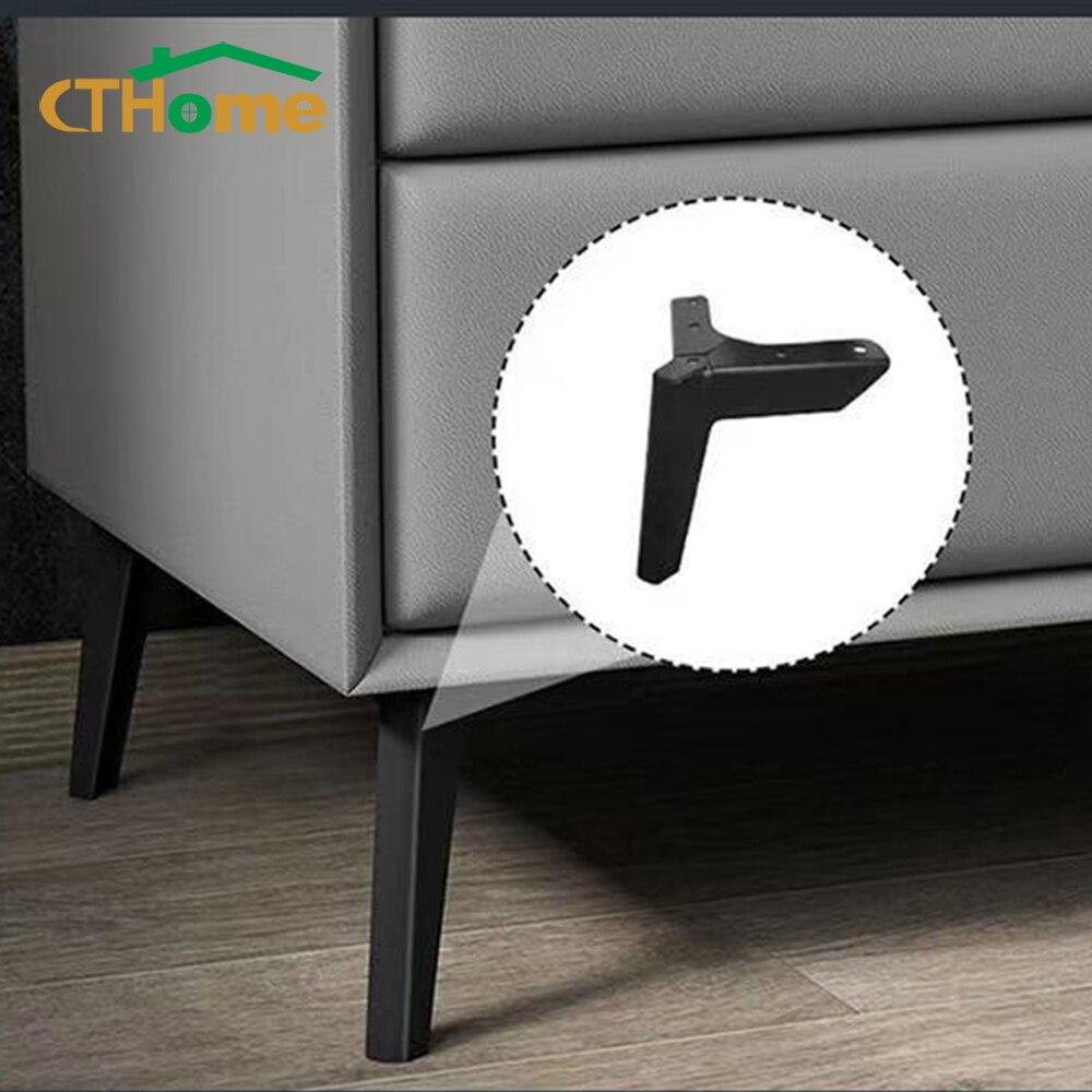 4 قطعة الذهب الأسود أرجل قطع الأثاث المعادن لخلع الملابس طاولة القهوة القدم حامل تلفاز أريكة كرسي مكتب السرير الحمام قدم الارتفاع 8-15 سنتيمتر