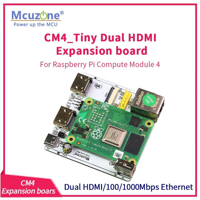 RPi cm4-لوحة توسيع صغيرة ، HDMI مزدوج ، Giga Ethernet ، كاميرا ، USB ، وحدة كمبيوتر Raspberry Pi 4 ، TV KODI Player KALI Ubuntu