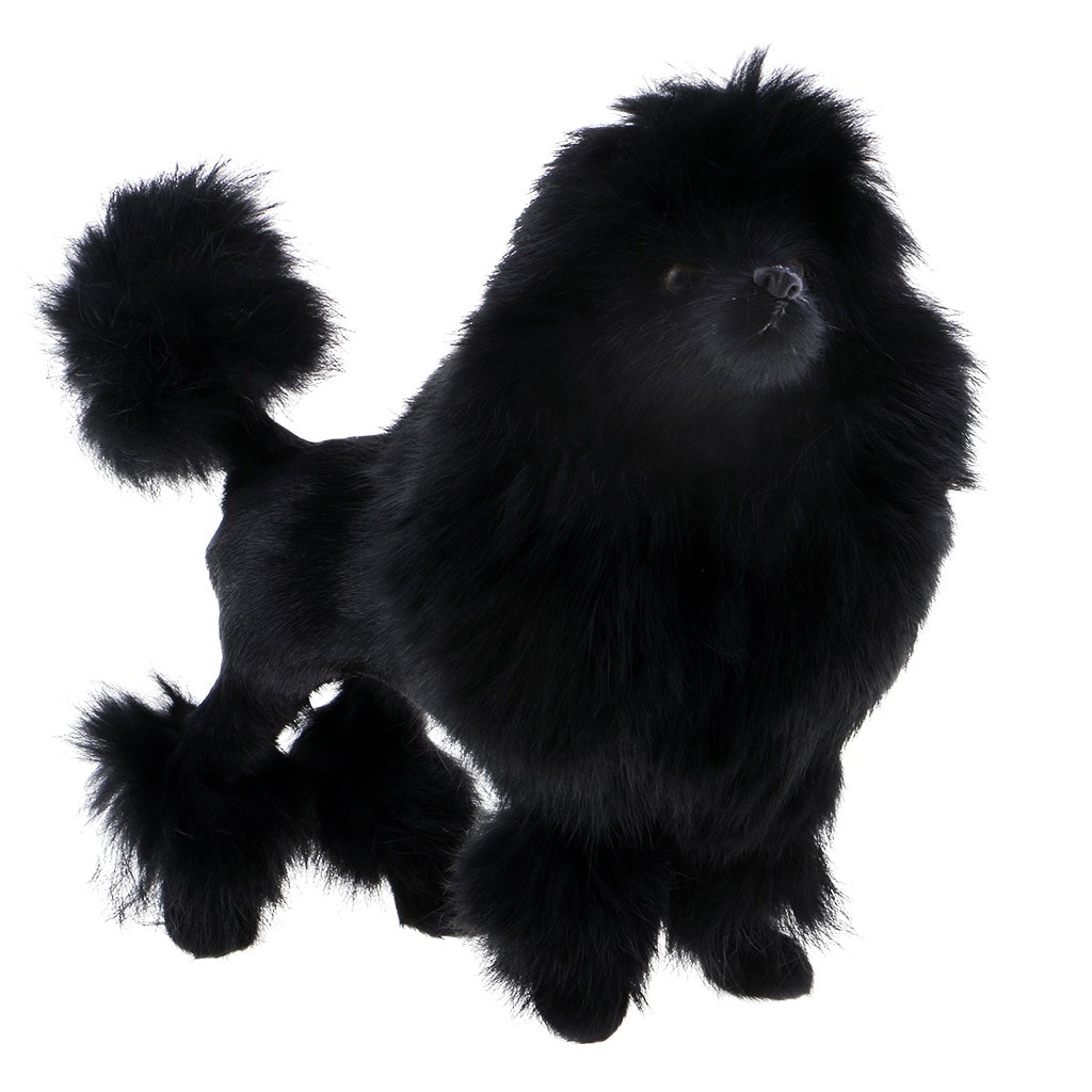 Juguete de peluche suave realista caniche figura perro muñeca decoración regalo niños juguete