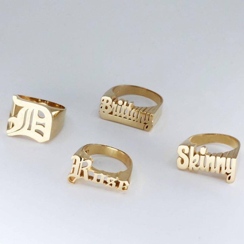 Custom Name Ring Hip-Hop Rock Übertrieben Ring Hohe Qualität Edelstahl Unisex Zubehör Personalisierte Schmuck Geschenk