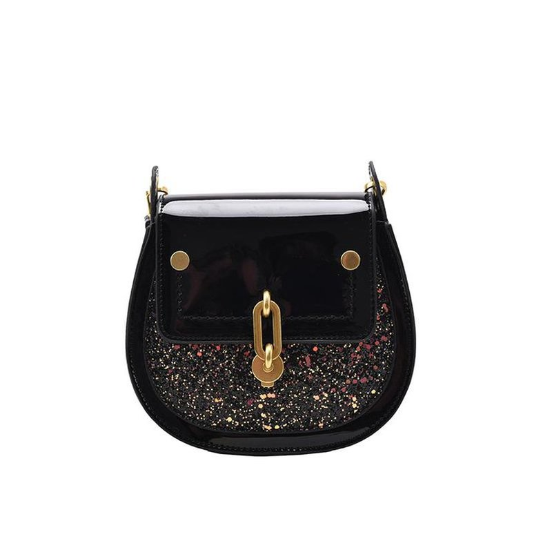 High-quality pu leather square sequined messenger bag womens luxury handbag fashion simple chain shoulder