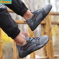 safety boots men steel toed shoes safety shoes anti piercing work shoes sports shoes breathable protective shoes2021 new