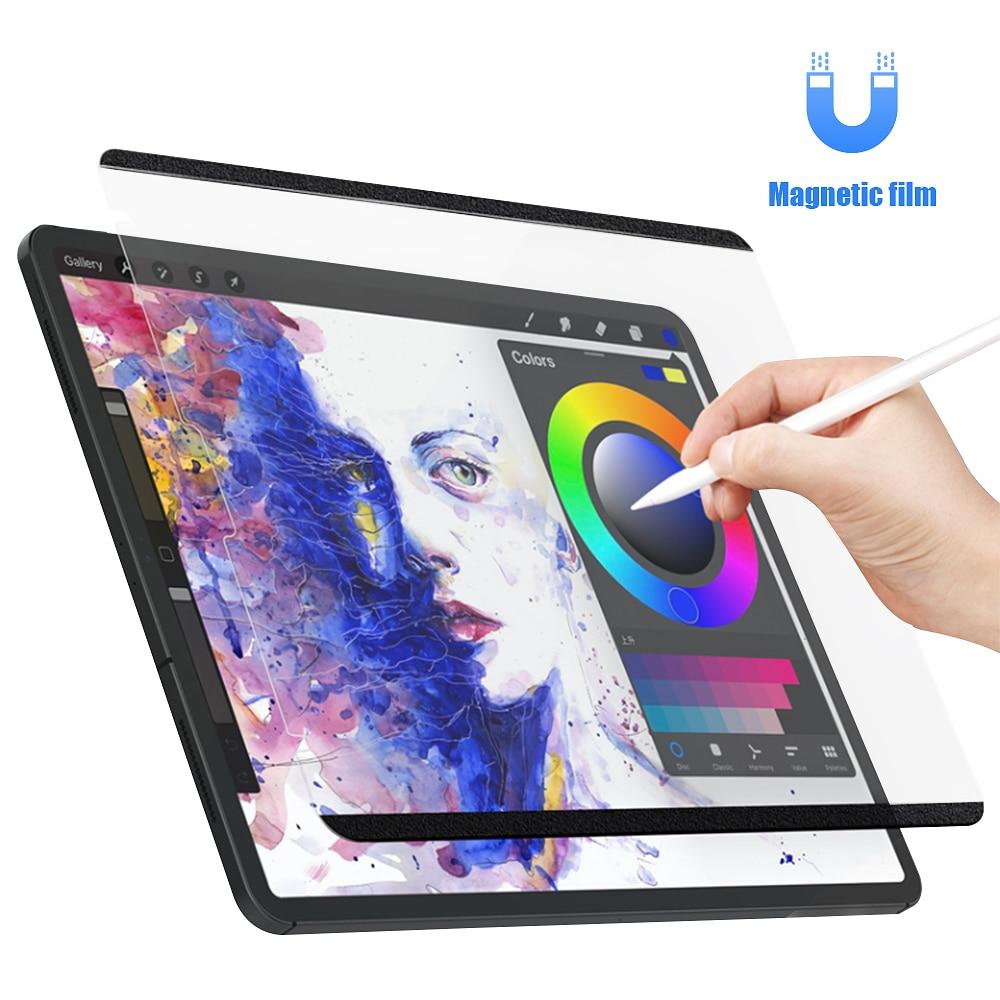 Hoce papel sentir filme protetor de tela para ipad pro 11 2021 2020 2018 ipad ar 4 10.9 10.2 atração magnética removível para ipad
