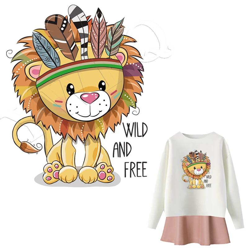 Engomar Patches Ferro-Em Transferências de Calor Animal Dos Desenhos Animados Adesivos Tarja Em Roupas de Ferro Sobre Patches Para T-shirt da Imprensa do Calor applique