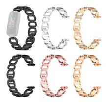 Women Stainless Steel Band Metal Wrist Strap Band Bracelet Replacement Slim Metal Link Bracelet Stra