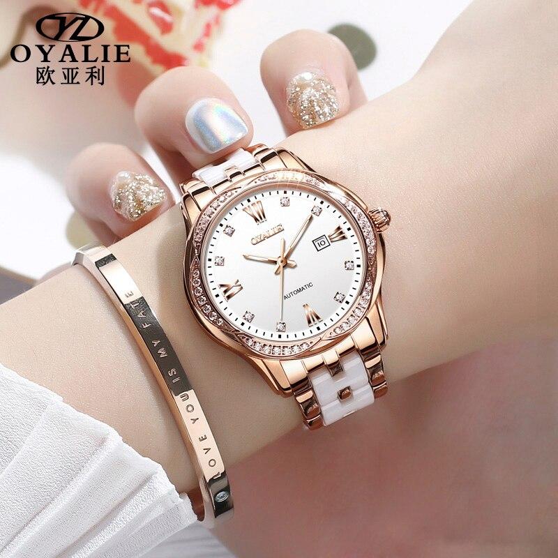 Women's Watches 2021 Quartz  Wristwatches Ladies Luxury Brand Watch For Women's Bracelets Ceramics Jewelry Digital Clock Casual enlarge
