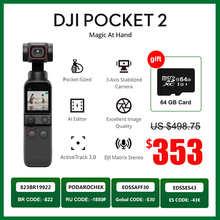 DJI Pocket 2/DJI Pocket 2 Combo handheld gimbal 64MP Images camera ActiveTrack 3.0 original brand new in stock
