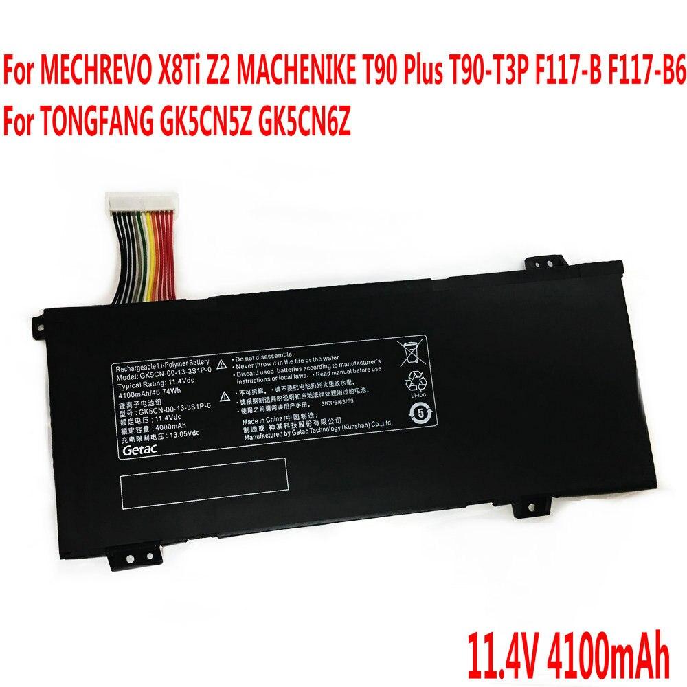 Bateria Do Portátil Para MECHREVO GK5CN-00-13-3S1P-0 X8Ti Z2 MACHENIKE T90 Plus T90-T3P F117-B F117-B6 Para TONGFANG GK5CN5Z GK5CN6Z