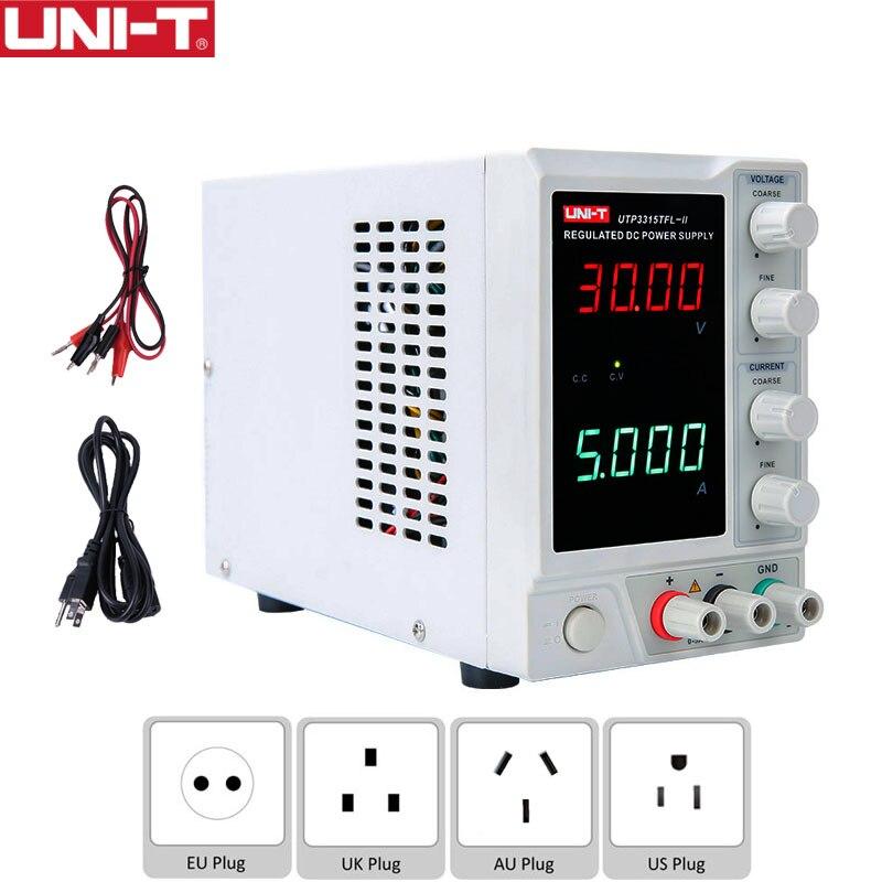 UNI-T UTP3315TFL-II fuente de alimentación ajustable 30V 5A corriente de voltaje de un solo canal lineal DC electrónica DIY medidor de sobremesa