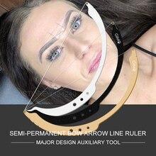 Augenbraue Positionierung Semi-Permannet Linie Herrscher Microblading Messung Werkzeug Mapping string Mit 15 stücke Liner 15 Färben liner
