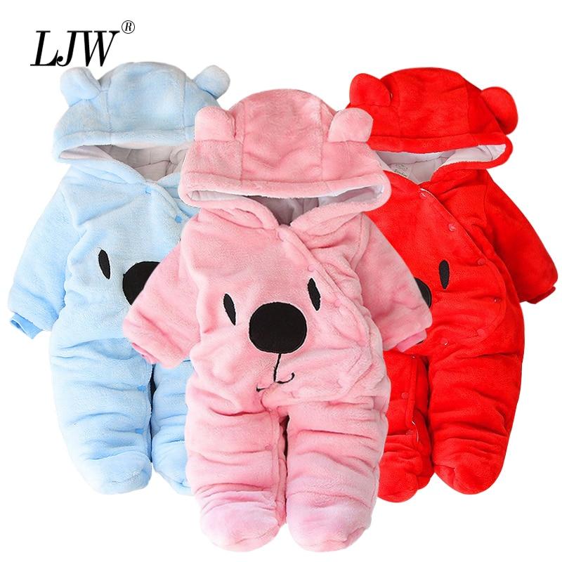 Dicken Baby Winter Kleidung Neugeborenen Baby Mädchen Insgesamt Herbst Plus samt Baby Strampler Für Baby Jungen Overall Infant Weihnachten Kostüm