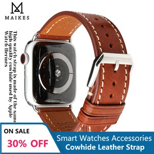 DEETLE High Quality Soft Leather WatchBand For iWatch 40mm 44mm Business Leather Strap For Apple Watch Series 2 3 4 5 6 SE