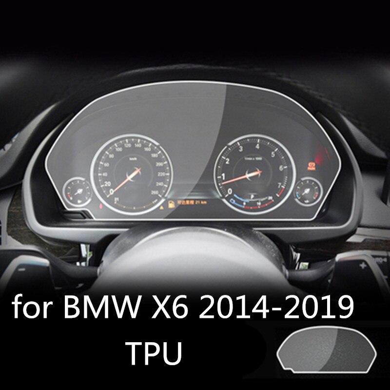Para BMW X6 2014-2019 LCD Panel de instrumentos de coche TPU Protector de pantalla de Control central Protector de pantalla táctil