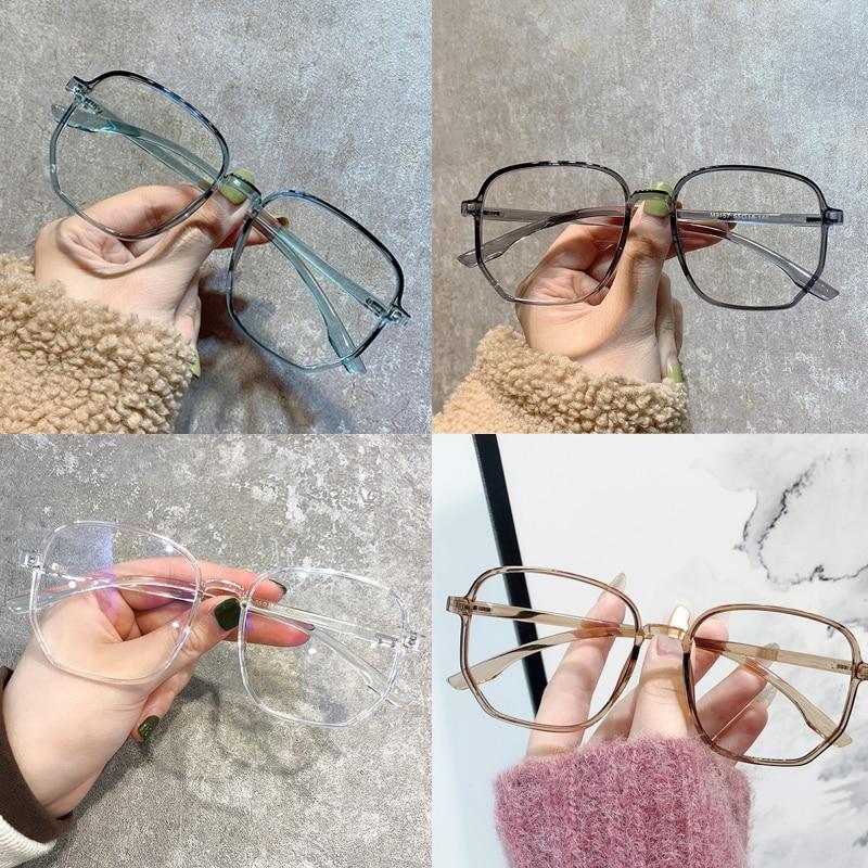 Прозрачная оправа для компьютерных очков, женские и мужские круглые очки с блокировкой, оптические очки, очки, оправа для очков, очки
