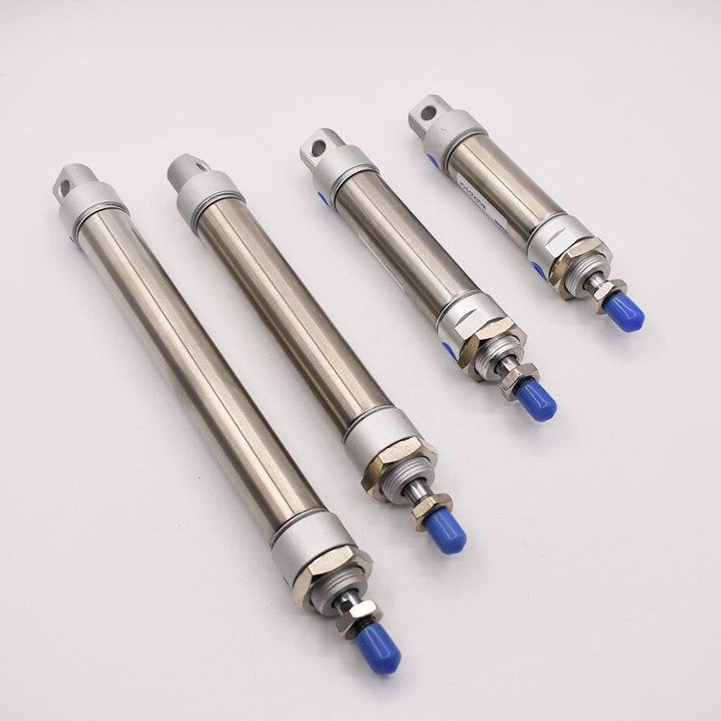 Stal nierdzewna MA typ 20mm otwór siłownik pneumatyczny 25/50/75/100/125/150/175/200/250/300mm skok podwójne działanie cylinder pneumatyczny