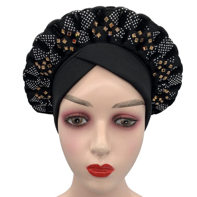 Головной убор с бриллиантами и блестками в африканском стиле, женский головной убор, мусульманский головной убор, головной убор, головной у... gcds головной убор