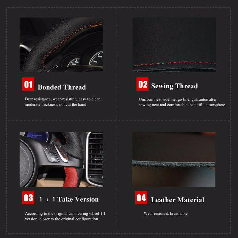 Hand sewing Car Steering Wheel Cover for Roewe rx5 Ei5 i6 360 RX8 950 eRX5 e550