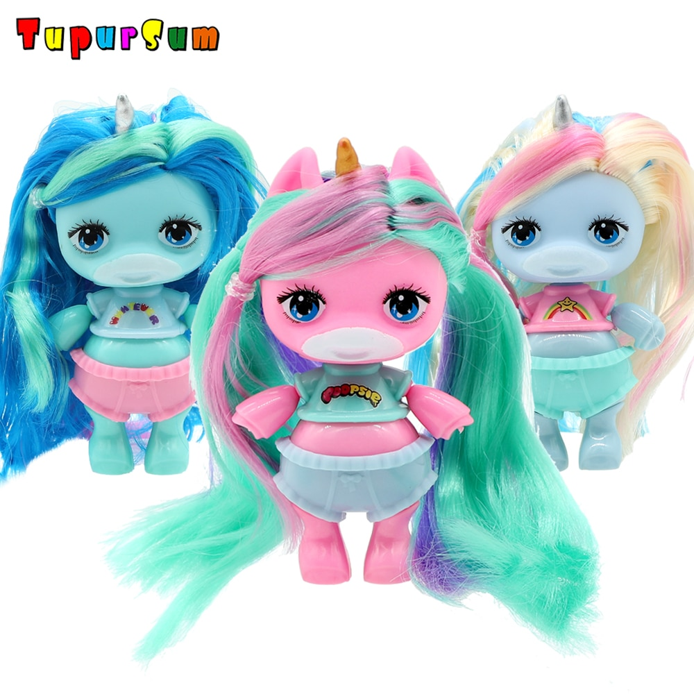 Original Baby Doll Figure Action Toy figure surprise Poopsies Silcone Slime Unicorn BJD Sister Dolls Toy For Girl Children Gifts