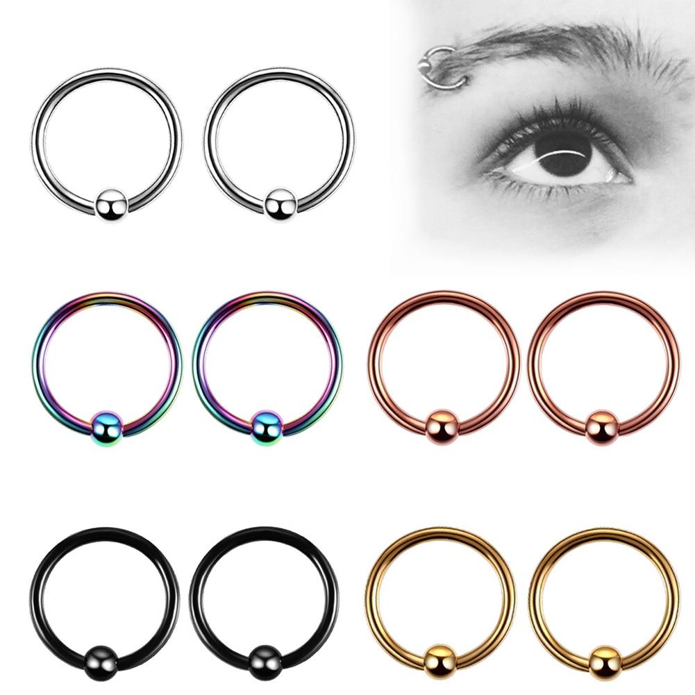 Кольцо-гвоздик из хирургической нержавеющей стали для пирсинга носа, ювелирное изделие с шариком, носовой перегородкой, 1 шт.