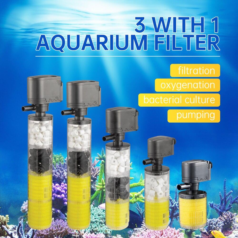 1000-3500L/H de agua sumergible filtro interno bomba enchufe EU para tanque de peces de acuario accesorio para acuario acuáticos para filtros de