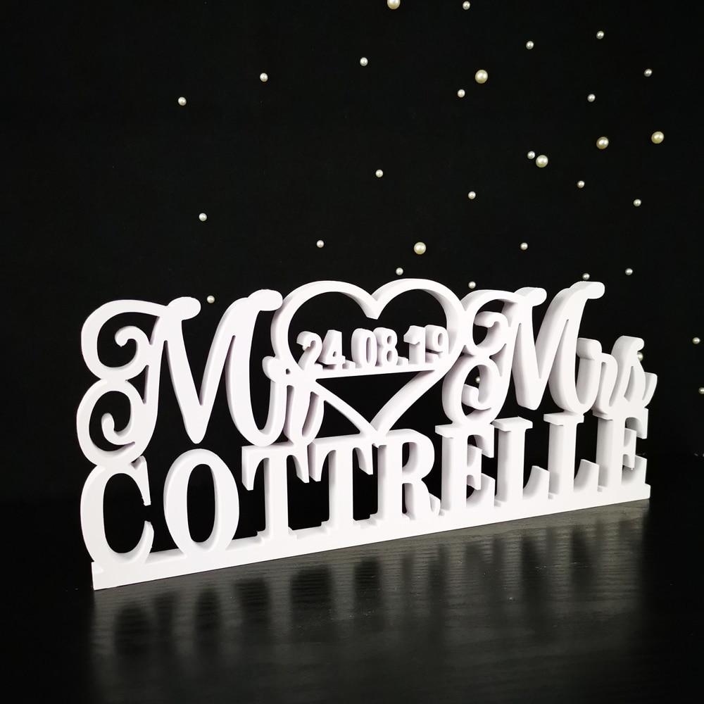 مخصص الزفاف الجدول شعار السيد والسيدة الاسم الأخير الجدول علامة شخصية الزفاف تسجيل السيد والسيدة تسجيل الزفاف الديكور