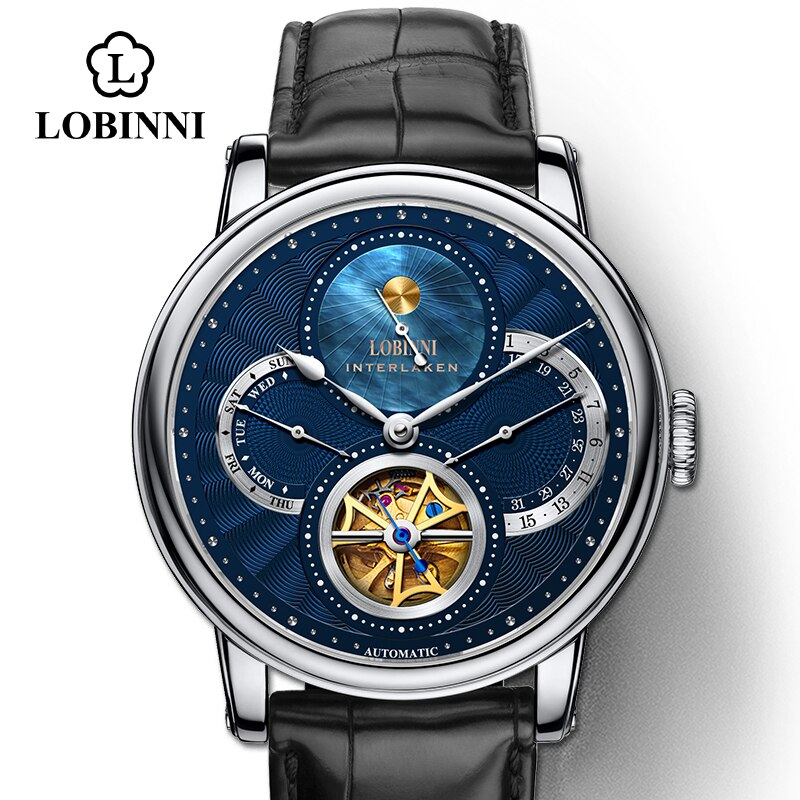 Reloj de marca de lujo para hombre de Suiza, relojes de diseño de esqueleto, reloj de pulsera para hombre mecan Automat, Reloj de piel de zafiro para hombre Seagull