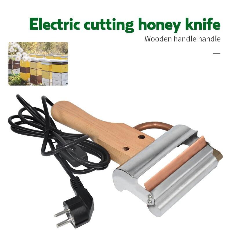 Herramienta de extracción de miel eléctrica de marca herramientas de apicultura para exportación de utensilios de abeja raspador de cuchillo eléctrico para cortar el bazo de miel