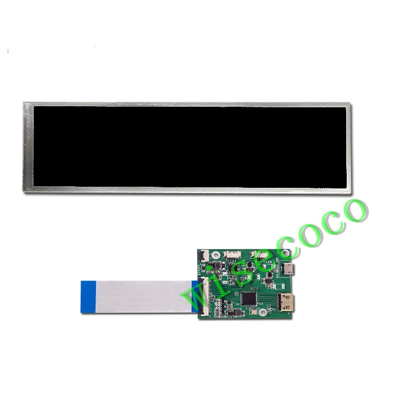 8.8 inch 1920*480 HSD088IPW1 Capactive touch Long Strip Monitor Case Sub Display Case Second Aida64 Display CPU GPU enlarge