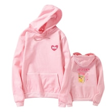 Harajuku Fleece Sweatshirts Women Strawberry Milk Print Kawaii Hoodies Casual Loose Hooded Pullover Korean Clothes