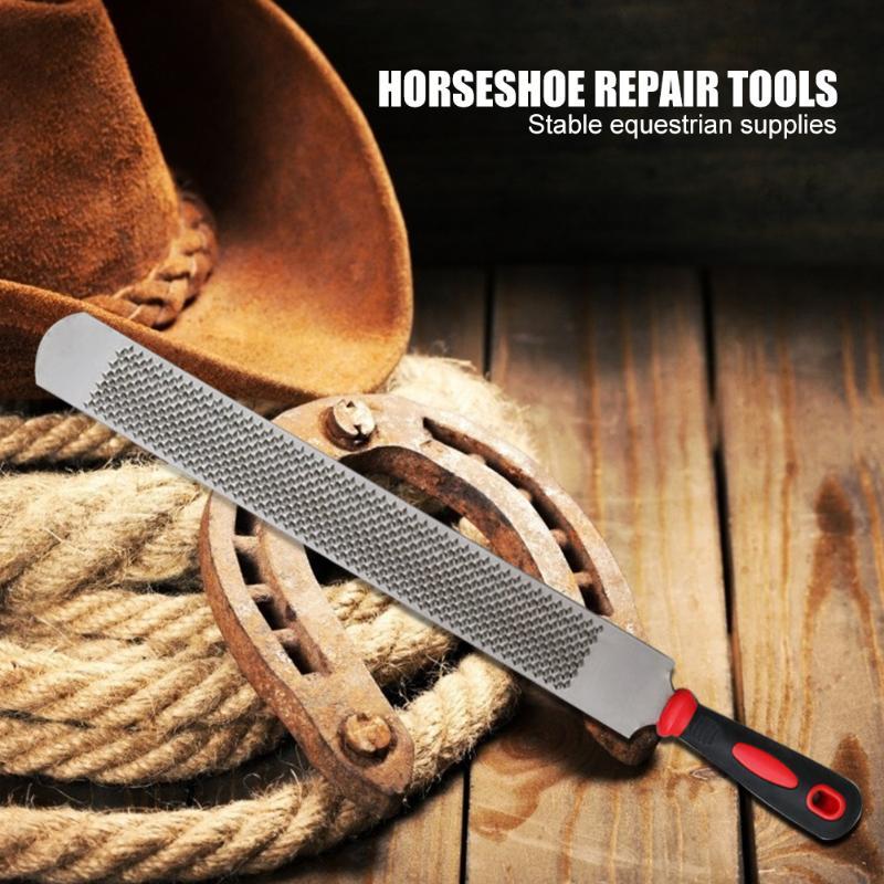 14 Inch Horse Hoof Rasp Trimming File Iron Horseshoe File Farrier Horseshoe Repair Tools Stable Equestrian Supplies