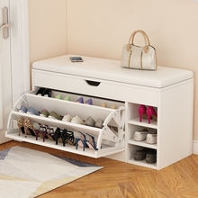 Nordic Shoe Storage Rack Entrance With Shoe Changing Stool Household Shoe Cabinet Household Entrance Bench Shoes Organizer Shelf