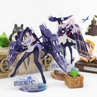 hot game azur lane key chain acrylic figure model keychains delicate desk decor standing sign keyring gifts for woman man
