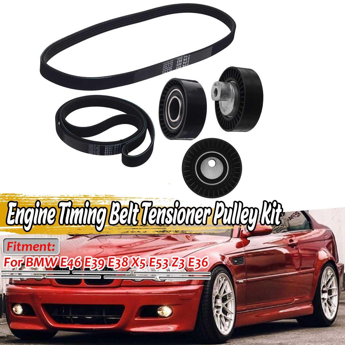 New Car Engine Timing Belt Tensioner Pulley Kit For BMW E46 E39 E38 X5 E53 Z3 E36 11281437475 11281706545 1706545