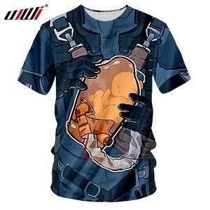 UJWI Men's 3D Print Death Stranding T Shirt Women/Men Clothes Casual Short Sleeve o Neck BB Pod Tees Unique T-Shirt  Hip Hop